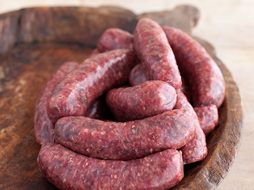 Venison And Red Wine Sausages